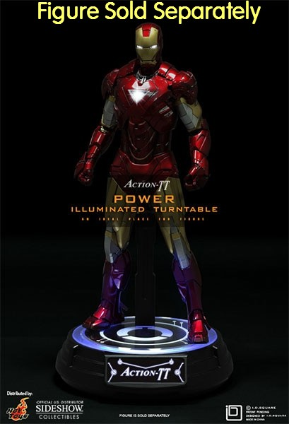 I.D. Square Action-TT Power Illuminated Turntable Figure Stand